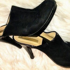 Michael Kors Suede Heel Slide-On Mules Clogs 8